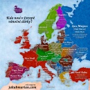 Mapa ukazující, kdo nosí v jiných zemích Vánoční dárky